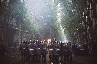 1st Carabinieri Mobile Brigade - Carabinieri during riot control in 2015