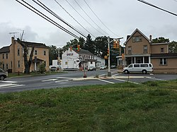 2017-09-13 15 16 05 The intersection of Old Trenton Road (Mercer County Route 535), Edinburg-Windsor Road (Mercer County Route 641) and Edinburg Road (Mercer County Route 526) in the Edinburg section of West Windsor Township, Mercer County, New Jersey.jpg