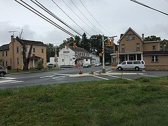 Edinburg, New Jersey - Image: 2017 09 13 15 16 05 The intersection of Old Trenton Road (Mercer County Route 535), Edinburg Windsor Road (Mercer County Route 641) and Edinburg Road (Mercer County Route 526) in the Edinburg section of West Windsor Township, Mercer County, New Jersey