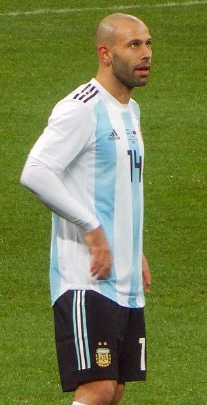 Javier Mascherano - Mascherano with Argentina in 2017.