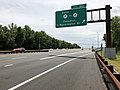 2018-07-21 13 43 00 View south along New Jersey State Route 444 (Garden State Parkway) at Exit 163 (SOUTH New Jersey State Route 17 to New Jersey State Route 4, Paramus, George Washington Bridge) in Paramus, Bergen County, New Jersey.jpg