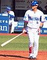 20180325 Kazuki Kamizato, outfielder of the Yokohama DeNA BayStars, at Yokohama Stadium.jpg