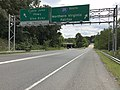 2019-09-09 14 04 44 View southeast at the northwest end of the Cabin John Parkway (Interstate 495-X) at Interstate 495 (Capital Beltway) in Potomac, Montgomery County, Maryland.jpg