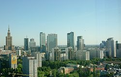 Warsaw financial district, 2011. Image: Wistula.