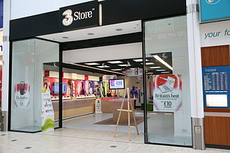 3 (telecommunications) - A 3 store in Banbury, England
