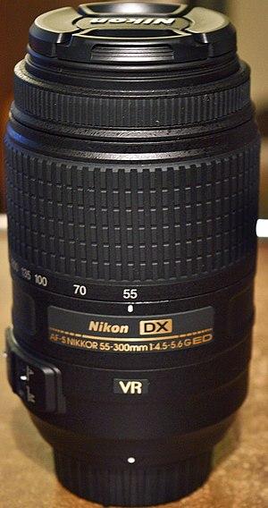 Nikon AF-S DX Nikkor 55-300mm f/4.5-5.6G ED VR - Lens retracted.