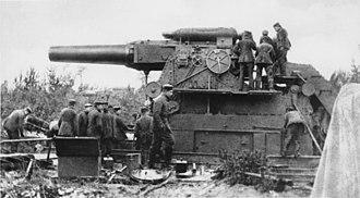 Big Bertha (howitzer) - Gamma-Gerät (Gamma-device)—the railway-transported, concrete-emplaced predecessor to the Big Bertha