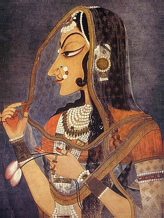 Rajasthani people - Bani Thani (Monalisa of Rajasthan)