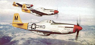 4th Operations Group - North American P-51D Mustangs of the 335th Fighter Squadron, 1944