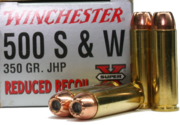 Reduced Recoil Winchester factory load for the 500 S&W Magnum.