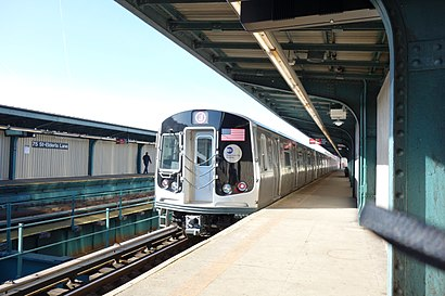 How to get to 75th Street–Elderts Lane with public transit - About the place