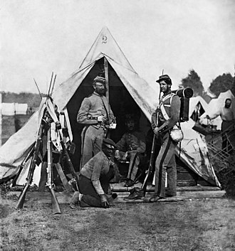 7th Infantry Regiment (United States) - The 7th Infantry in New York during the Civil War (photography by Mathew Brady).