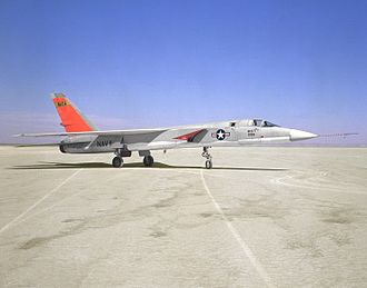 North American A-5 Vigilante - A3J-1 147858 with NASA as 858, at NASA Dryden in support of the supersonic transport program.