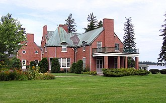 Albert James Smith - A. J. Smith's legacy paid for this house, the residence of his grandson J. W. Y. Smith, called Younglands, on Shediac Bay, New Brunswick. Built in 1927, it is now owned by a Catholic order.