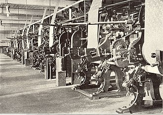 American Printing Company (Fall River Iron Works) - Printing Room, American Print Works, about 1910