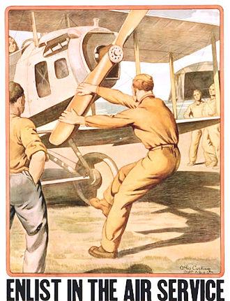 United States Army World War I Flight Training - World War I Air Service Recruiting Poster