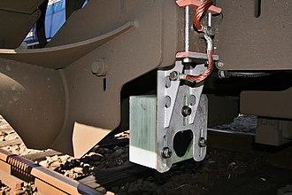 Automatische treinbeïnvloeding - Equipment for the ATB on a DB class 189 locomotive