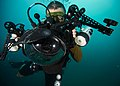 A Sailor conducts underwater photo training. (22501163054).jpg