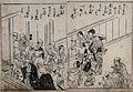 A group of blind Japanese men leave a house Wellcome V0046632.jpg
