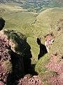 A hidden person on Corn Du crags - geograph.org.uk - 1301693.jpg