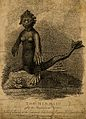 A mermaid, situated on a rock. Etching by J. Godby, 1814, af Wellcome V0007466.jpg