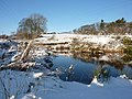A pool in the countryside in winter - geograph.org.uk - 1628454.jpg