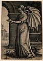 A winged, blindfolded woman; representing avarice. Engraving Wellcome V0007645.jpg