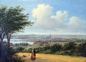 Aarhus - View of Aarhus, 1850.