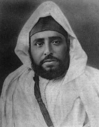 Sultan - Sultan Abd al-Hafid of Morocco.