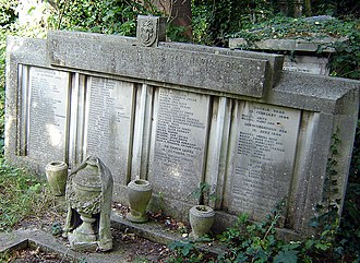 Stoke Newington - Abney Park Blitz memorial. Most of the space is taken up with the names of the victims of the 1940 Coronation Avenue incident.