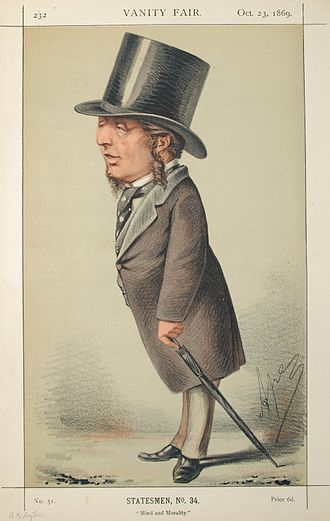 Acton Smee Ayrton - Caricature by Ape published in Vanity Fair in 1869.