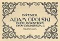 Adam Opolski, advertising (Rocznik Architektoniczny 1913-1914).jpg