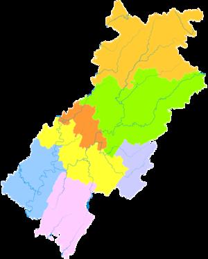 Dazhou - Image: Administrative Division Dazhou