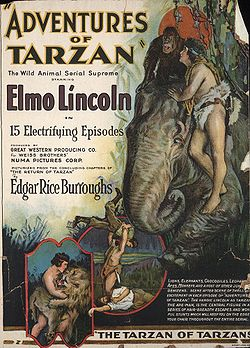 Locandina di The Adventures of Tarzan, dove compare uno dei Tantor