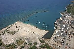 Kawaihae, Hawaii - Aerial view of Kawaihae Harbor