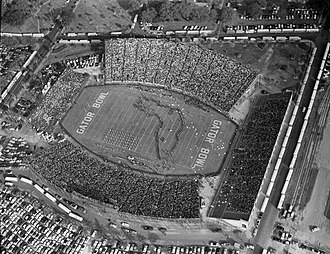 Gator Bowl Stadium - Image: Aerial View of the Gator Bowl Stadium During Show at the 1954 Game Between Auburn University and Baylor University Jacksonville, Florida (5296888516)