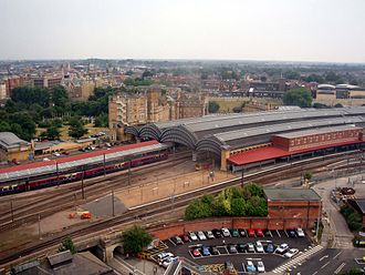 York railway station - York railway station from the air