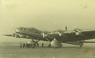 Aeroflot - The Tupolev ANT-20bis was used for cargo flights from Moscow to Mineralnye Vody before World War II