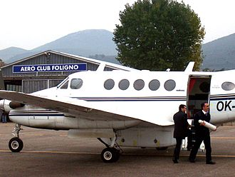 Air taxi - An Italian air taxi flight using a Beechcraft King Air