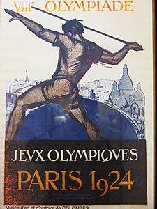 Affiche des Jeux de la VIIIe Olympiade.