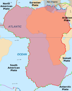 African Plate Tectonic plate underlying Africa west of the East African Rift