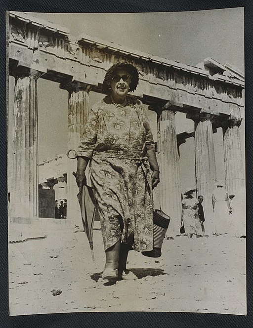 Agatha Christie visits the Acropolis, 1958. (7893554162)