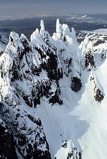 Aghileen Pinnacles Mountains in Izembek National Wildlife Refuge.