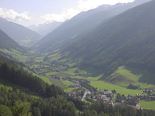 Tauferer Ahrntal tributary valley in Italy