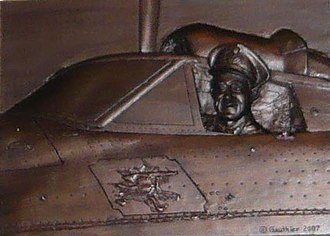Leonard Birchall - Air Commodore Leonard Birchall Leadership Award, at Royal Military College of Canada; bas-relief bronze by Colonel (ret'd) Andre Gauthier