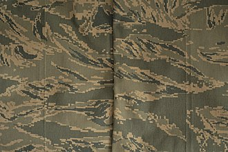 Airman Battle Uniform - Close-up view of the ABU's camouflage pattern
