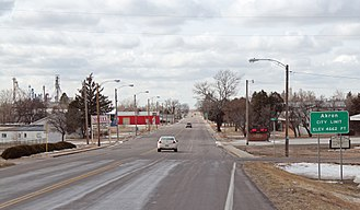 Akron, Colorado - Entering Akron from the east.