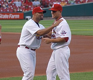 Albert Pujols (left) and Matt Holliday