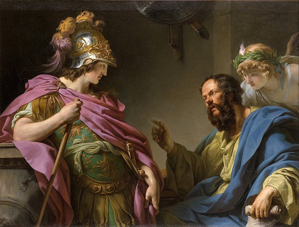 Alcibades being taught by Socrates, François-André Vincent