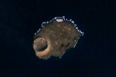 Fotografía de satélite de la isla Alegranza